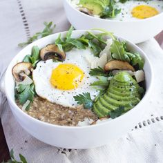 Oatmeal doesn't have to be sweet. Try this Savory Oatmeal for breakfast or dinner!