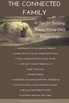 The Connected Family: 10 Tips for Building Positive Parent Child Relationships (Conscious Discipline and Montessori!)