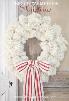 Dreamy Whites: French Farmhouse Christmas Items in the Shop, Wintersteen Farms Wreaths, and a Container Sale