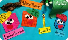 Step into 2nd Grade with Mrs. Lemons: Place Value. Place Value Pals--part of paid product or make your own