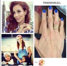 tania khalill com anel de nome de suas filhas by fabi malavazi #fabimalavazi