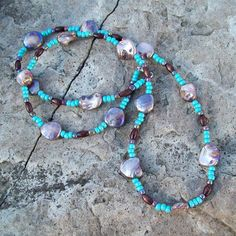 Hippie High Life Shell and Wood Beaded Necklace by Angelof2, $24.00