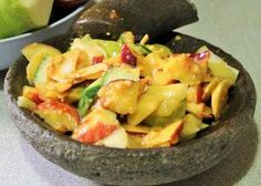 Rujak (Fruit and Vegetable Salad with Sweet Tamarind Dressing)
