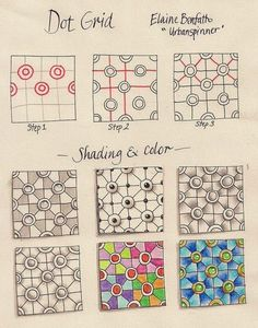 Doe@ding: Zentangle/ Doodle patroontjes
