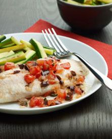 What's for dinner? Try this heart healthy #recipe for baked tilapia with tomatoes! #HeartTruth #heart #health