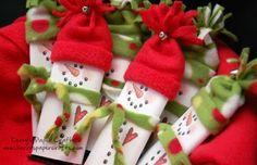 Embalagens natalinas para chocolates
