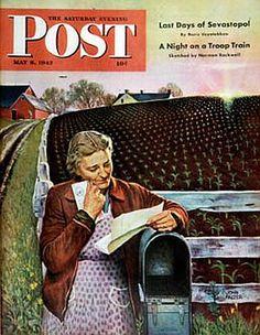 """Letter from Overseas"" by Nebraska artist John Falter; May, 1943"