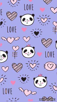 Panda Wallpaper Iphone, Cute Panda Wallpaper, Panda Wallpapers, Disney Phone Wallpaper, Bear Wallpaper, Kawaii Wallpaper, Cute Wallpaper Backgrounds, Cellphone Wallpaper, Pretty Wallpapers
