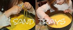 Guest Post by Critters And Crayons on Imagination Soup about Montessori Sensory Sand Writing Trays!