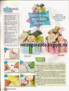Moldes para Todo: Centro de mesa para Baby Shower