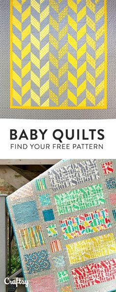 Our most adorable baby quilt patterns for the little one in your life. Create a Craftsy account for free access!