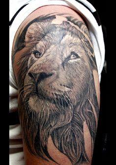 Lion free tattoo design, beautiful lion tattoos part 5 Leo Tattoos, Girl Tattoos, Sleeve Tattoos, Tatoos, Lion Tattoo Images, Lion Tattoo Design, Unique Tattoos, Beautiful Tattoos, Awesome Tattoos