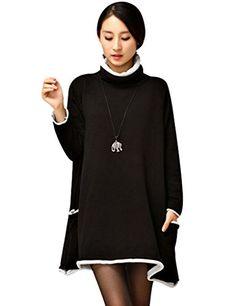 Youlee Women's Cowl Neck A-line Knitted Sweater Dress Jum... https://www.amazon.co.uk/dp/B01L1U3UH2/ref=cm_sw_r_pi_dp_x_97s7xbH5A4F7P