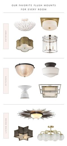 a roundup of our favorite flush mounts for EVERY room in the house | coco kelley