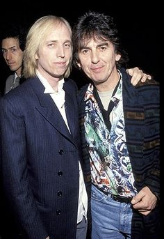 George Harrison & Tom Petty during 1992 Billboard Music Awards in Las Vegas, Nevada Liverpool, Tom Petty, Beverly Hills, Olivia Harrison, Travelling Wilburys, Rockn Roll, Billboard Music Awards, Before Us, John Lennon