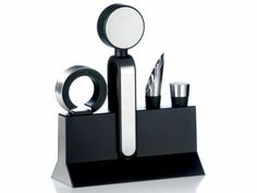Wine set (drip ring, opener, pourer and stopper)