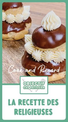 Good Food, Yummy Food, Choux Pastry, Eclairs, Chocolate Desserts, Cake Decorating, Biscuits, Sweet Tooth, Easy Meals