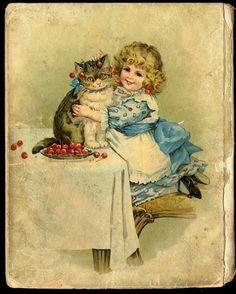 """Mamma's Pet"" 1900 Children's Book by Frances Brundage. (Back Cover)."