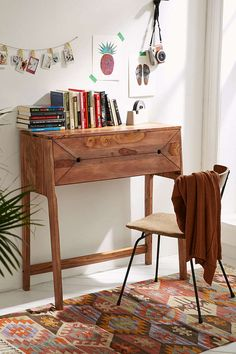 "UrbsnOutfitters Mid-century Fold out Desk- $467.61 Size - Folded up: 13""l x 35""w x 35""h - Folded out: 20""l x 35""w x 35""h"