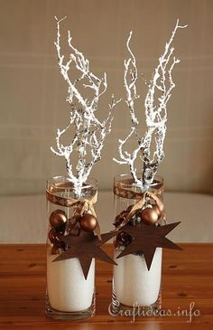Christmas and Winter Decoration in Brown and White 1