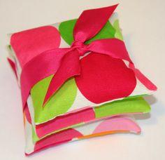 Valentine Favor Valentine Gift . French Lavender Sachets . DISCO DOTS . Printed cotton . #valentine #sachet # gift