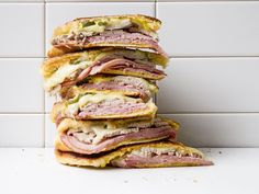 Almost identical to a Cuban, where Cuban sandwiches use a lean sandwich loaf, medianoche calls for a sweet egg bread similar to challah.