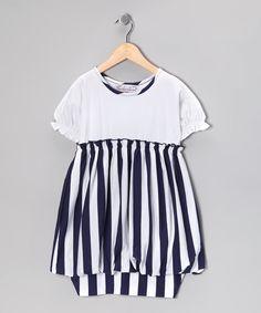 Nautical White Sami Dress - Toddler & Girls  #zulily #fall