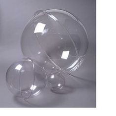 Clear Plastic Spheres from Rose Brand