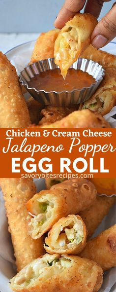 So good Jalapeno Popper Egg Roll! You wont stop at one. Try these amazing Jalapeno Popper Egg Rolls,you wont stop at one.These are addictive and yet so easy to make. Best Appetizers, Appetizer Recipes, Healthy Recipes, Cooking Recipes, Amazing Food Recipes, Best Jalapeno Poppers, Egg Roll Recipes, Recipes With Egg Roll Wrappers, Eggroll Wrapper Recipes