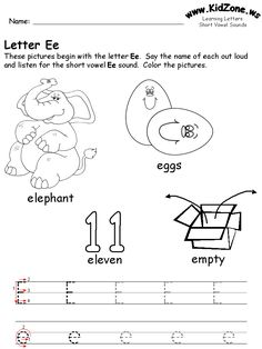 learning letters worksheet www.kidzone.ws