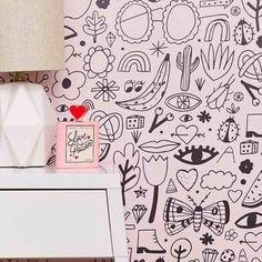 stick on wallpaper – Chasing Paper Stick On Wallpaper, Kids Wallpaper, Painting Patterns, Fabric Painting, White Rooms, Kids Decor, Designer Wallpaper, Kids Bedroom, Kids Rooms