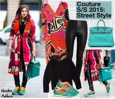 """""""HAUTE COUTURE STREET STYLE: SPRING 2015"""" by helenevlacho on Polyvore"""