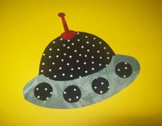 Fabric Applique TEMPLATE ONLY Flying Saucer by etsykim on Etsy, $1.50