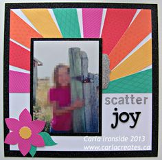 layout by Carla Ironside using CTMH Dream Pop paper