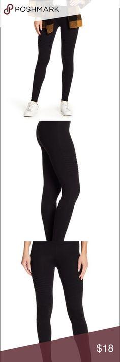 52fc491157de0 High Waist Motto Leggings Ribbed moto detailing adds trendy versatility to  these lightweight leggings. -