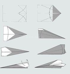 papieren vliegtuig vouwen en daarmee prestaties te doen bv. zo ver mogelijk