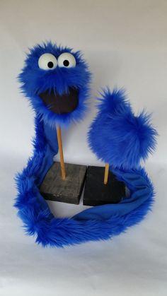 GLARF (TM), A Glove-Scarf-Puppet combination!  (child size BLUE)