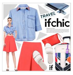 """Summer Style Travel"" by houseofhauteness ❤ liked on Polyvore featuring Blaque Label, Être Cécile, River Island, MARIOS, Mohzy, Anja, Dear Frances, denim, sandals and summerstyle"