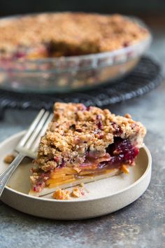 This persimmon cranberry pie is topped with a sweet and crunchy pecan crumble. This pie is well balanced as it combines sweet, tart,