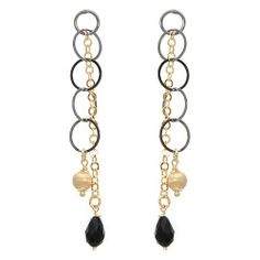 Made in Italy Pleasant Earrings With Simulated gems Beautifully Crafted in 14K/925 Gold plated Silver Length 73mm Unknown. $64.00