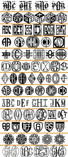 harolds monogram fonts- for pierced designs!