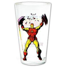 Not Just Toyz - Iron Man Glass Toon Tumbler, $9.99 (http://www.notjusttoyz.com/iron-man-glass-toon-tumbler/)