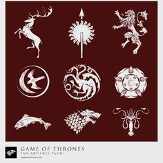 Game-of-Thrones Sigil Collection Vector
