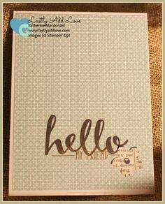 Hello Greeting Card Set - Lastly Add Love - 1