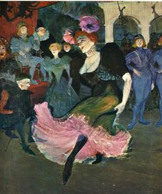 Henri de Toulouse-Lautrec Marcelle Lender Dancing the Bolero in Chilpéric, oil on canvas, 57 x 58 inches. Lender was a popular music hall performer and a model for Toulouse-Lautrec. Henri De Toulouse Lautrec, National Art, National Gallery Of Art, Art Gallery, Le Moulin Rouge Paris, Monet, Expo Paris, Paris 1900, Paris France