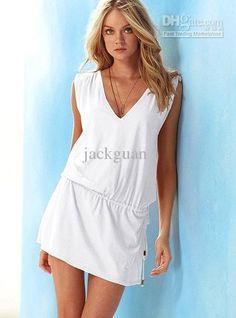 Wholesale Ultrashort / mini skirt Dress lady dress DL deep V summer beach sexy fashion beach dress free shippi, Free shipping, $22.35-26.55/Piece | DHgate
