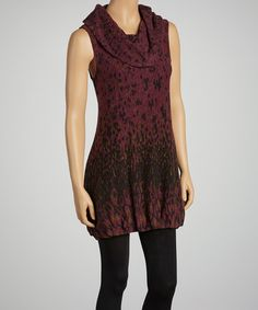 Take a look at this Purple Cowl Neck Dress by Aryeh on #zulily today!