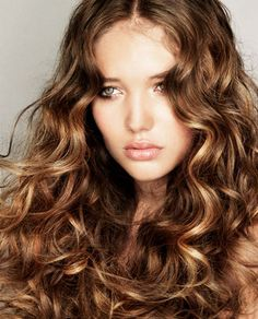 curly dark blonde hair