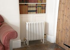 The Creamery radiator in RAL 1015 will match perfectly with the cream Aga. Column Radiators, Cast Iron Radiators, Column Design, Designer Radiator, Large Sofa, Reception Rooms, Centre Pieces, Bay Window