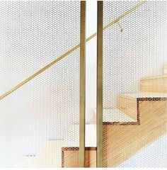 We can't stop STAIRing at the gorgeous and subtle metallics (yes, we went there). Staircase Handrail, Stair Railing, Staircase Design, Bannister, Architecture Details, Interior Architecture, Metal Stairs, Loft Stairs, Stair Detail